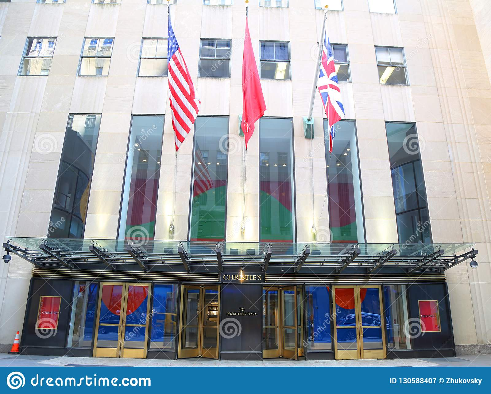 Christies Main Headquarters At Rockefeller Plaza In New York