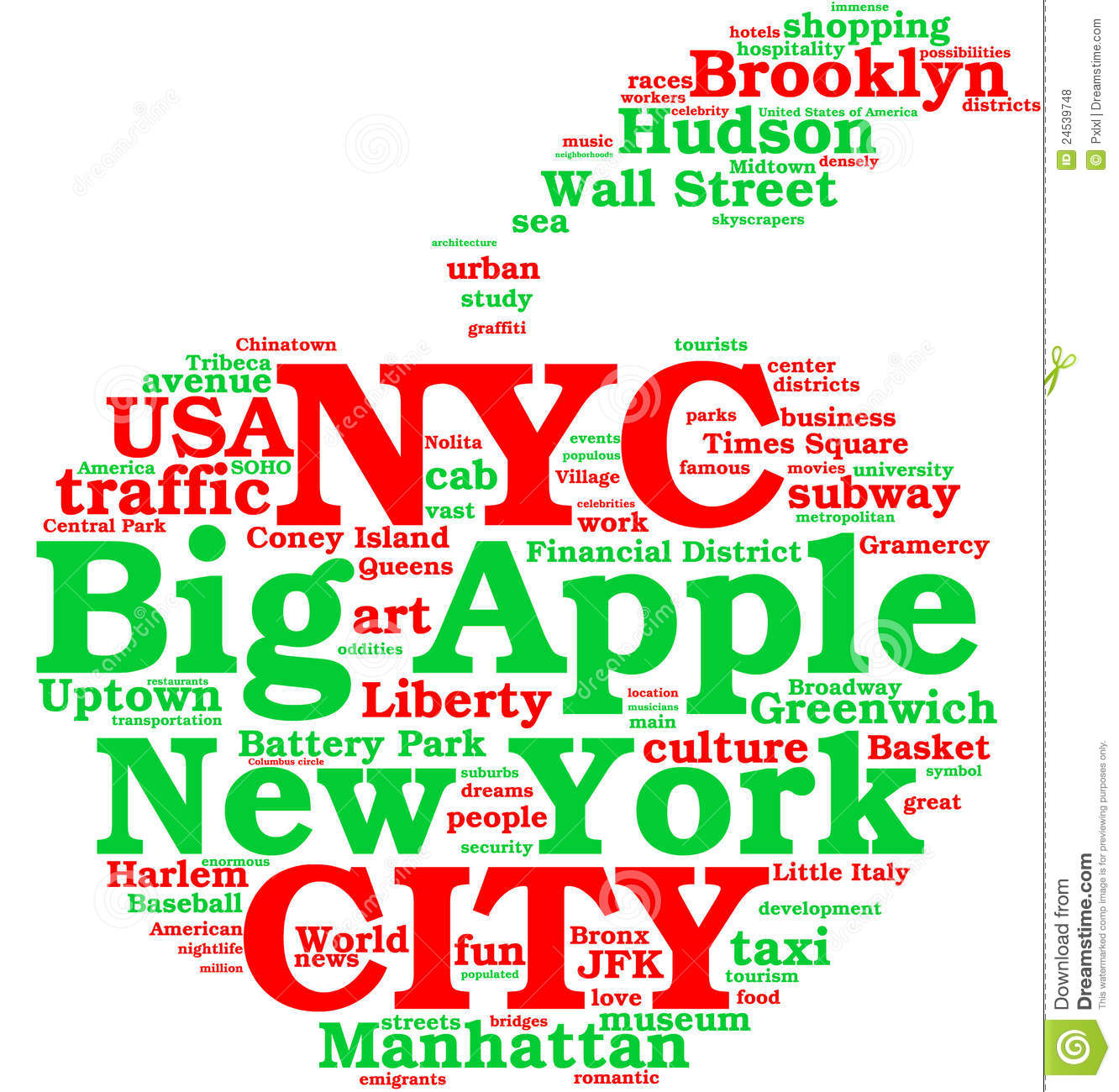 big apple Thanks for your answering 1) is there any possibility to use big an apple, and how it makes differences in meaning 2) is.