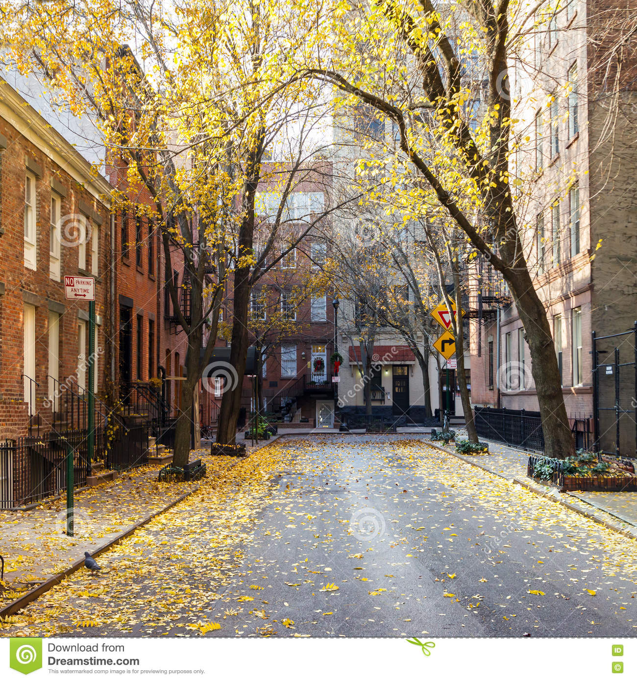 New York City Apartment Streets: New York City Block In The Greenwich Village Neighborhood