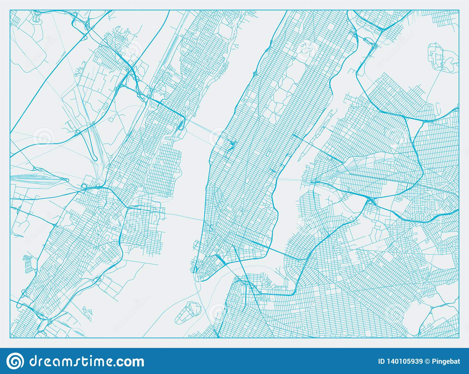 Street Map Of New York City.New York City Stock Vector Illustration Of Ground Avenue 140105939