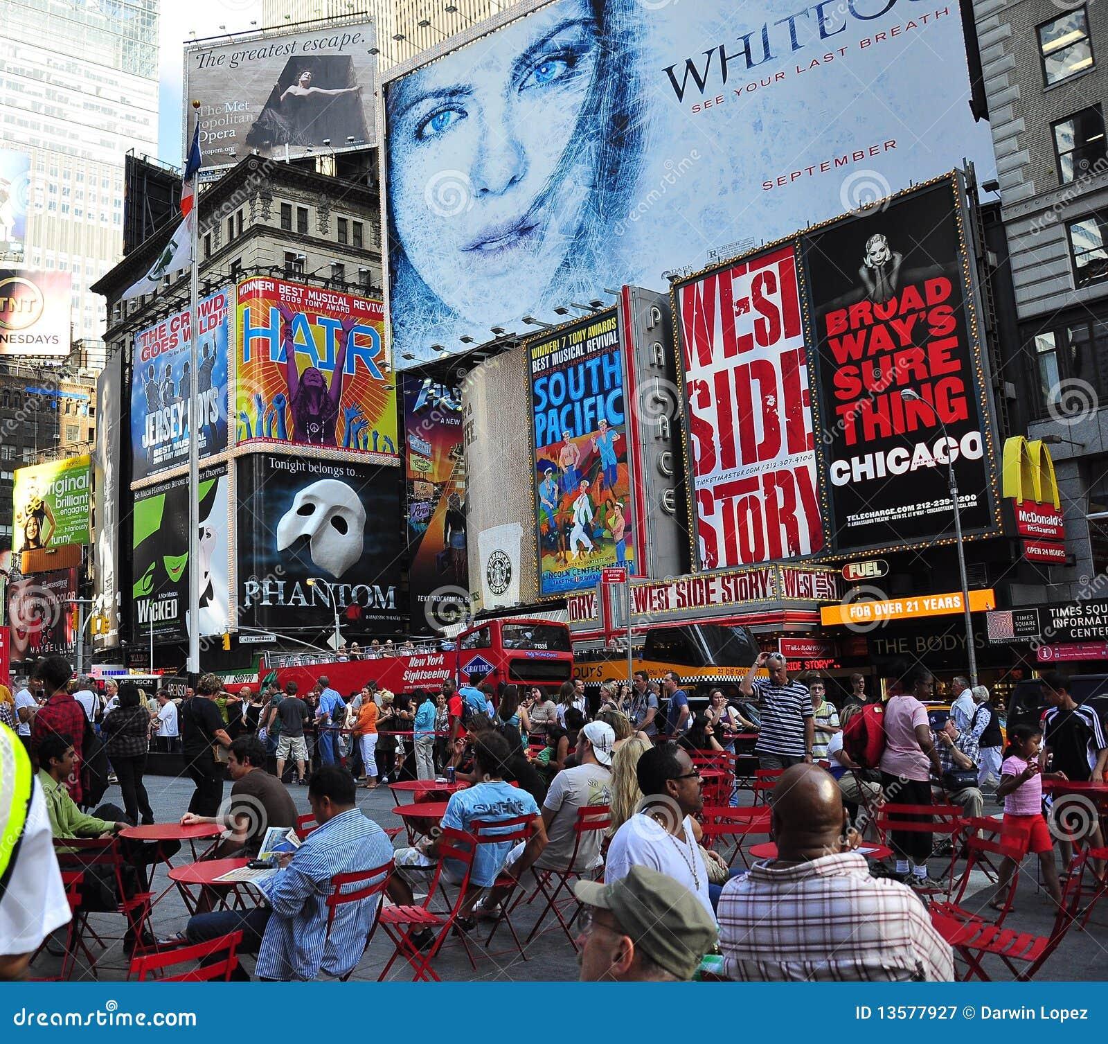 New York City Broadway Billboards Editorial Photography