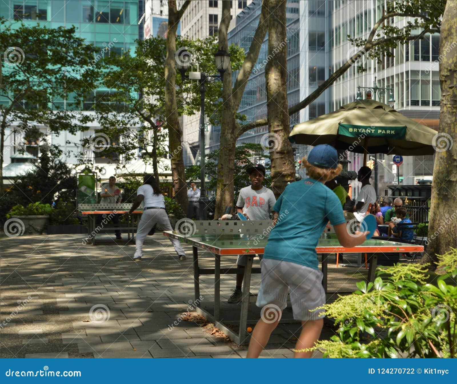 New York City Bryant Park Recreational Games Event