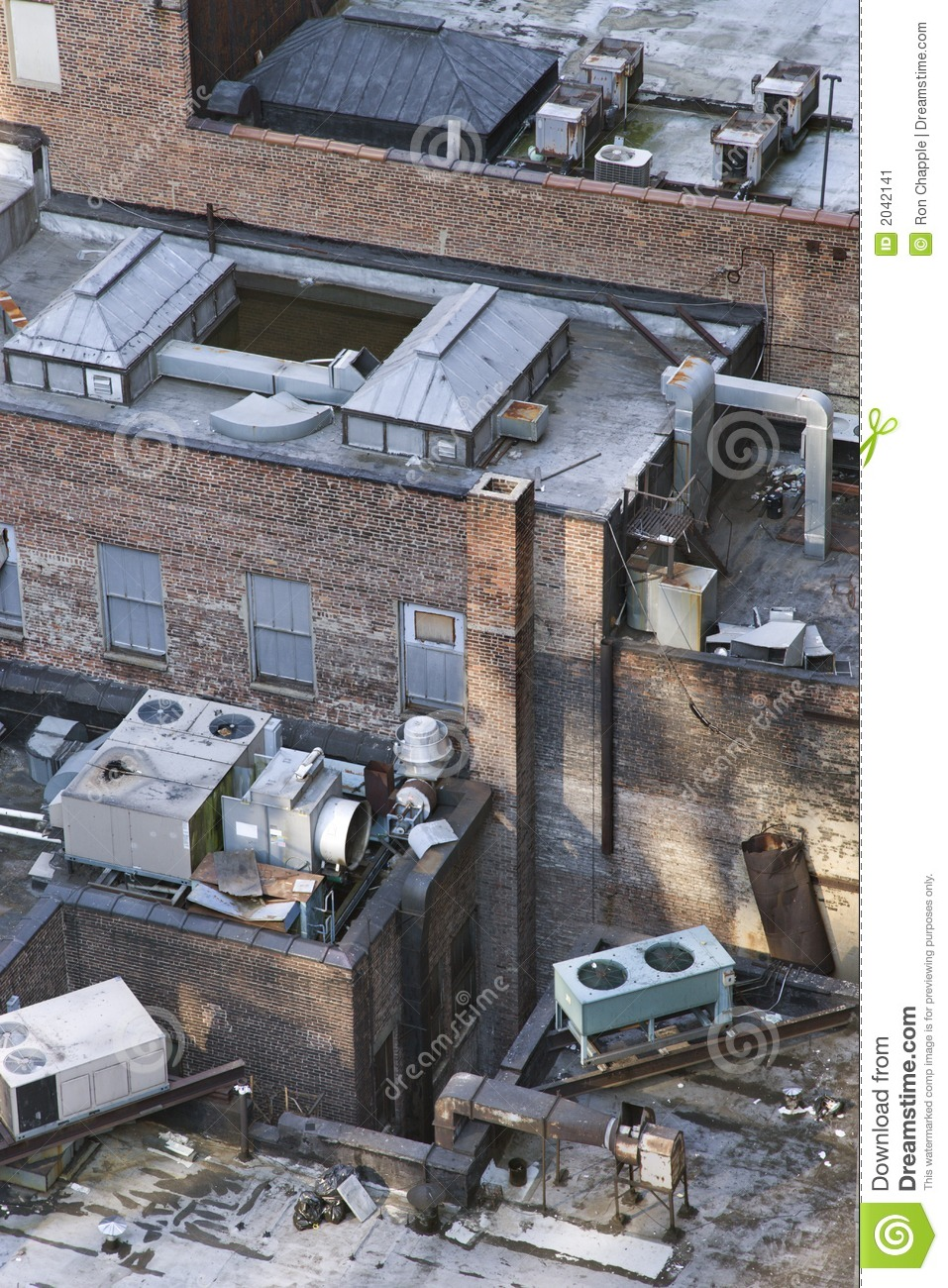 New York City Building Rooftop Stock Image Image 2042141
