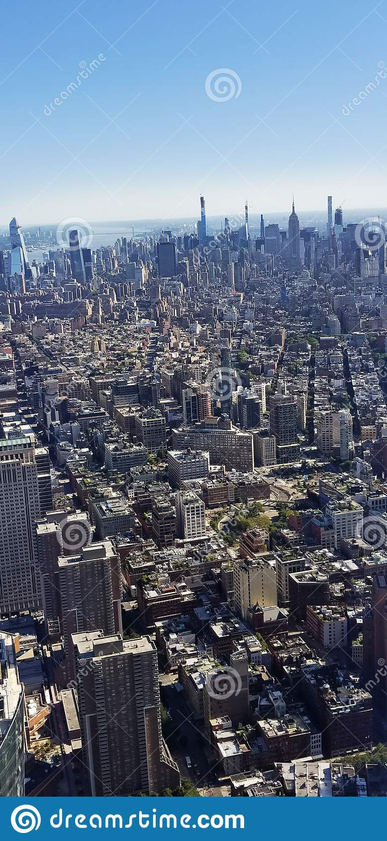 New York City Buildings Skyline View From Above