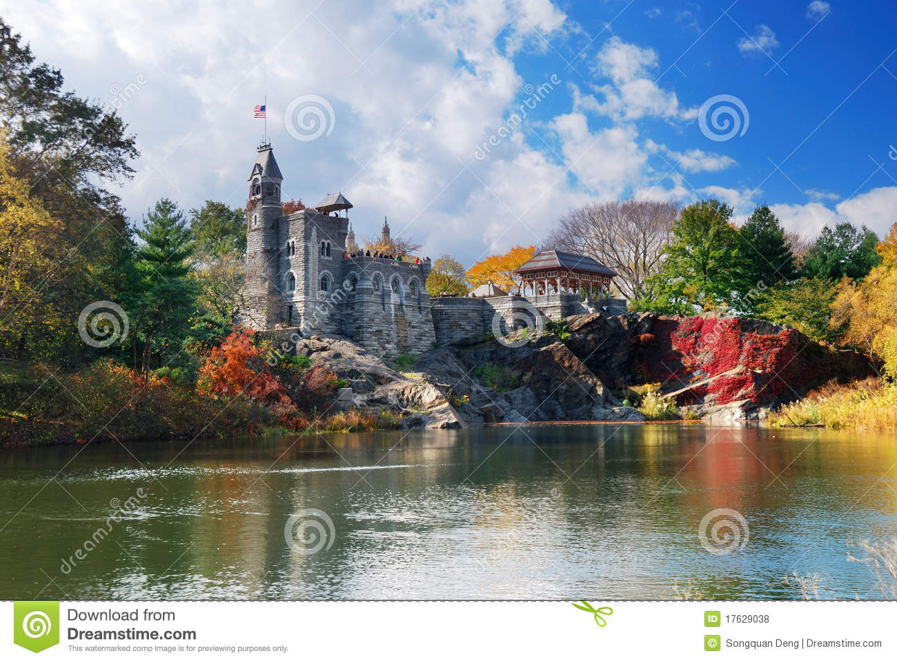 new york city central park belvedere castle stock photo On belvedere cabin park city