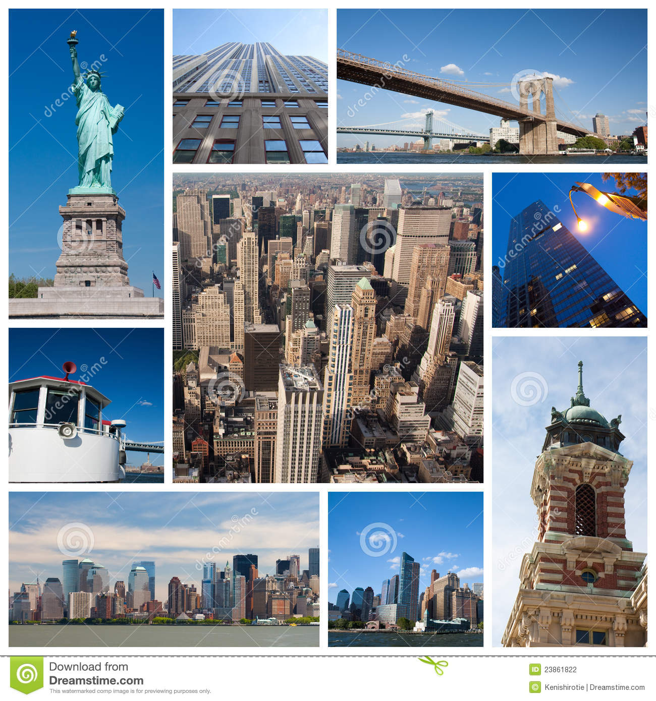 New York City Collage Stock Photography Image 23861822