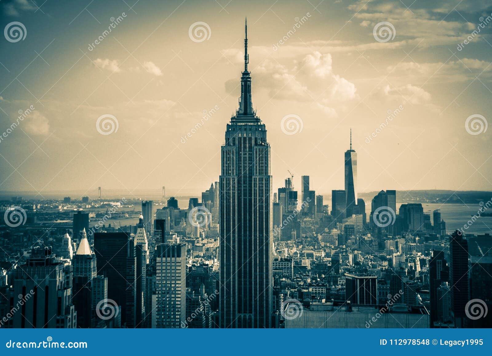 New York City The Empire States Building and Manhattan Skyline