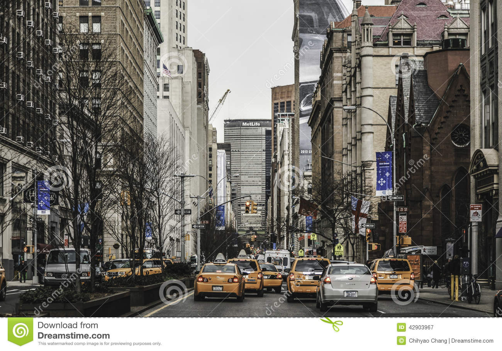 New York City - Fahrerhäuser u. Straßen-Ansicht