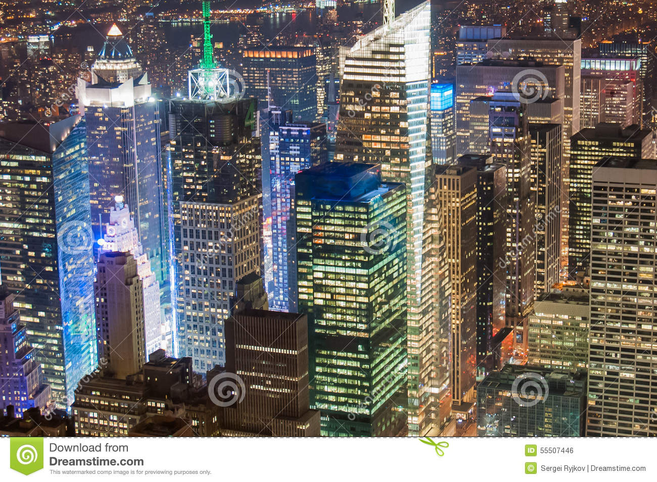 New York City Financial District Stock Photo Image 55507446