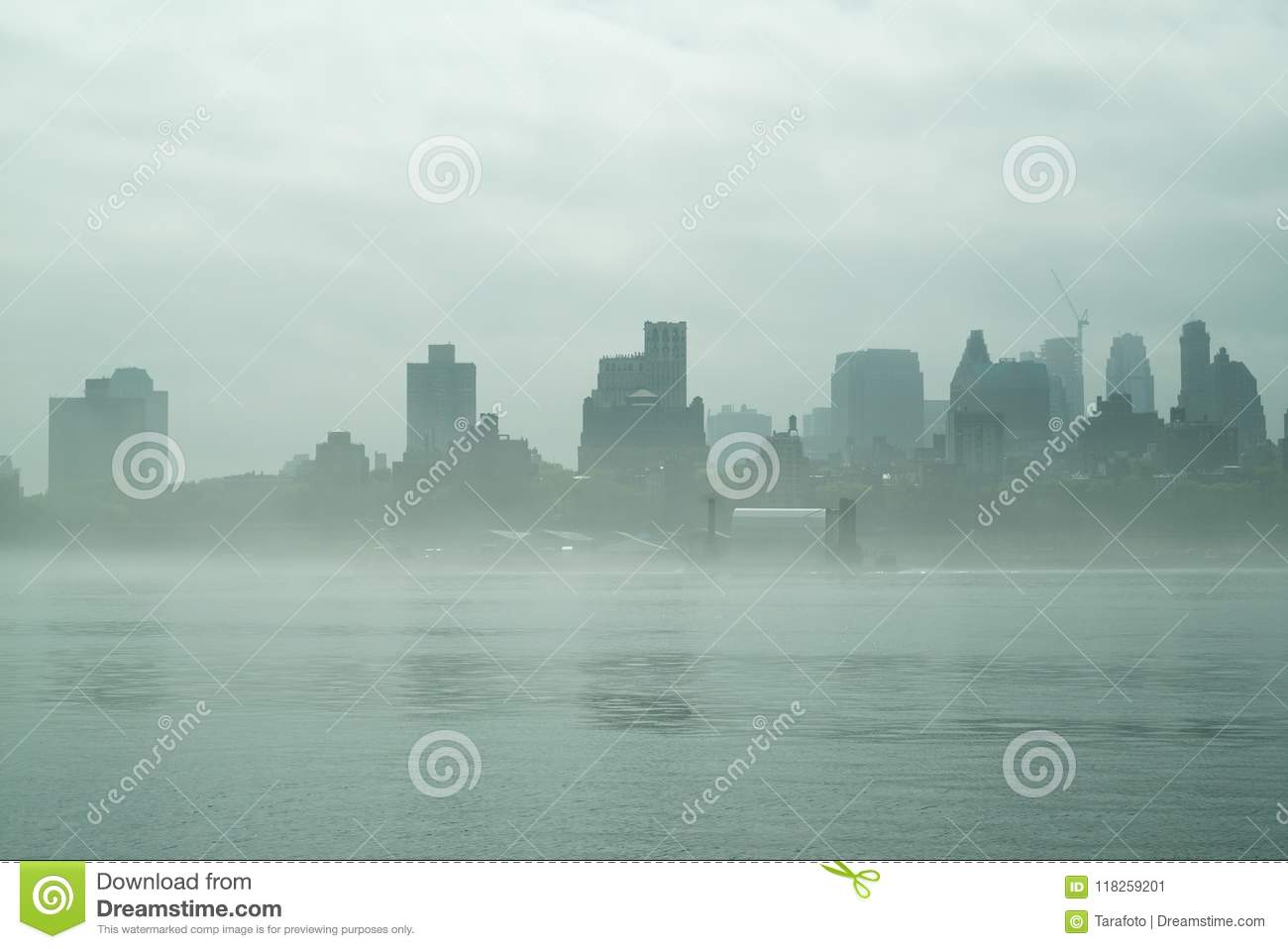 New York City Fog Backgrounds For Quotes Stock Image Image Of