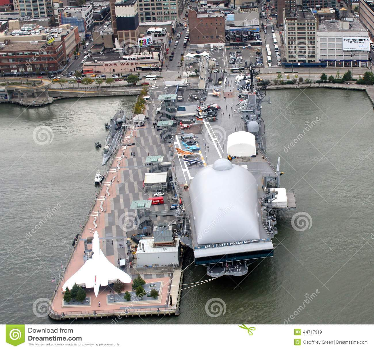 New York City Intrepid Sea Air And Space Museum Editorial Stock Image ...