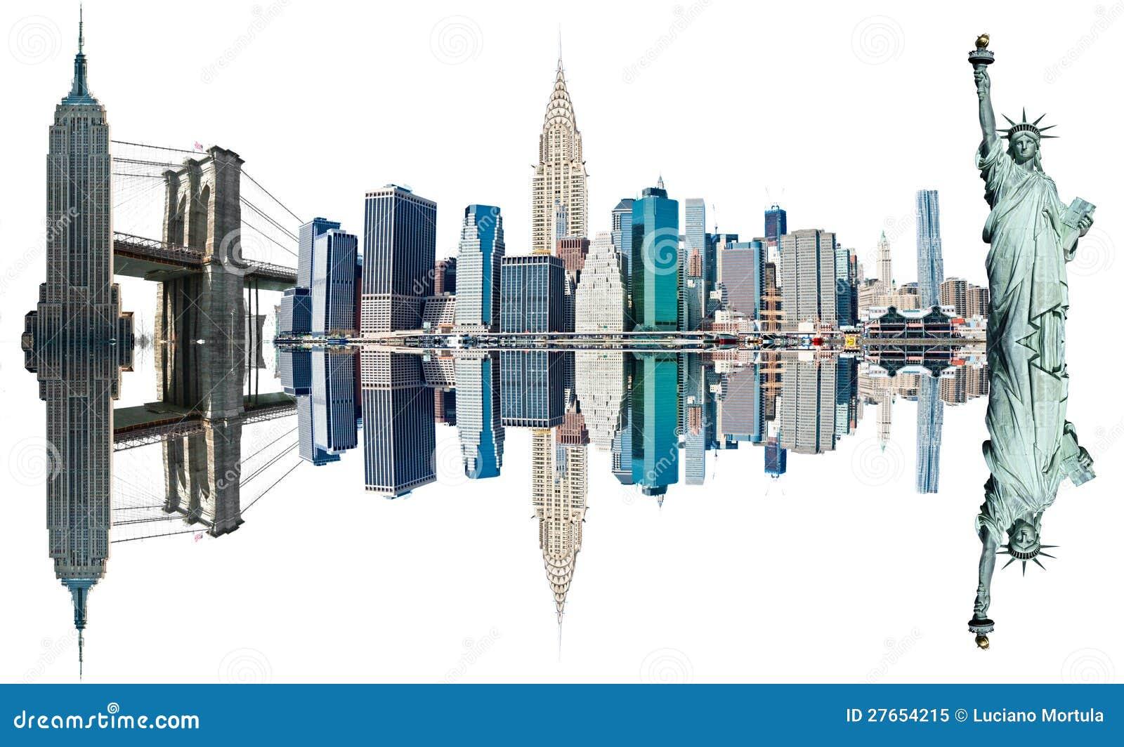 New york city landmarks usa stock image image 27654215 for New york landmarks