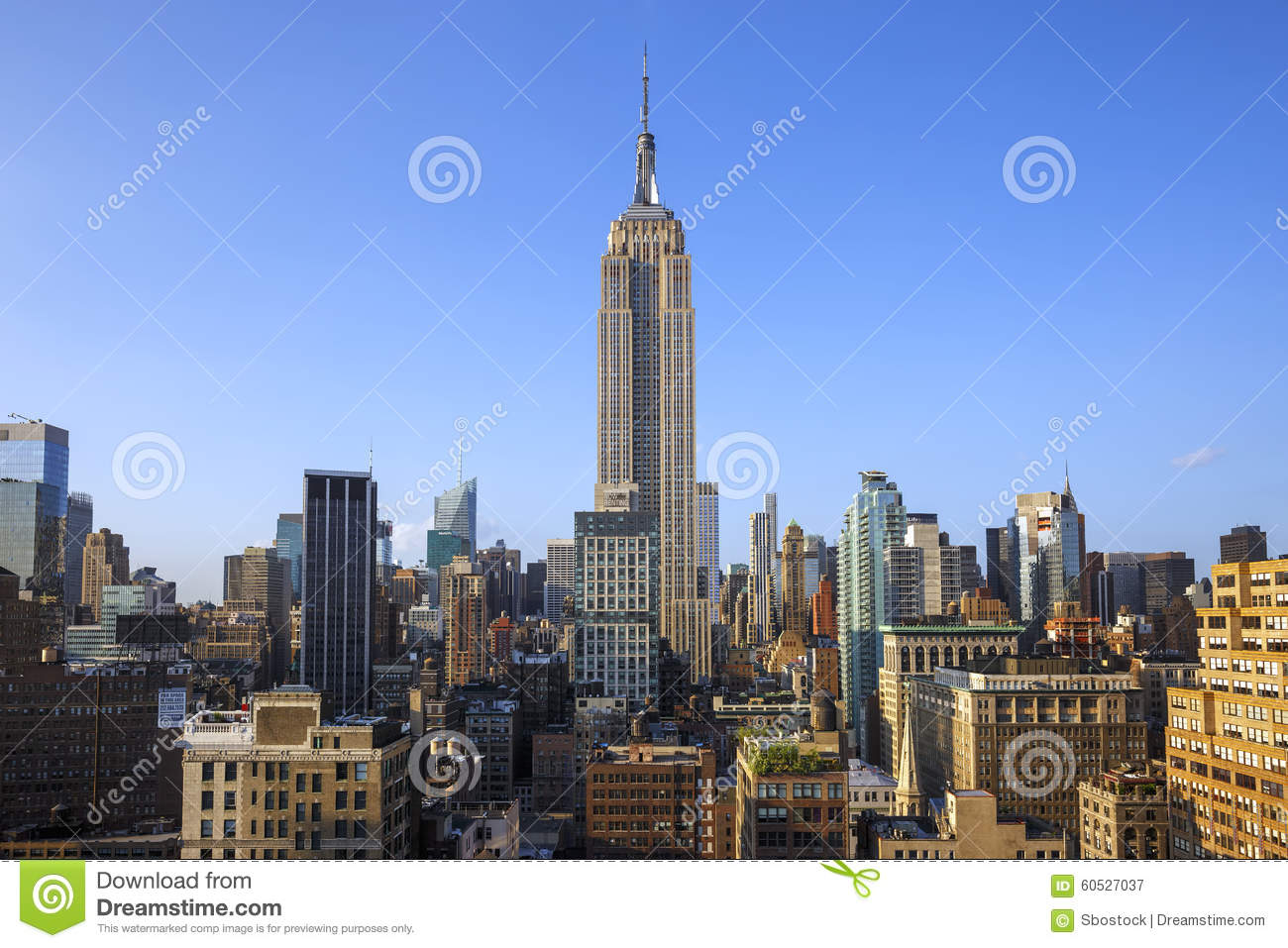 New York City Manhattan Midtown View With Empire State Building