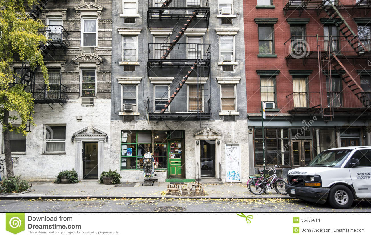 New york city manhattan editorial stock image image of for Townhouse with garage nyc