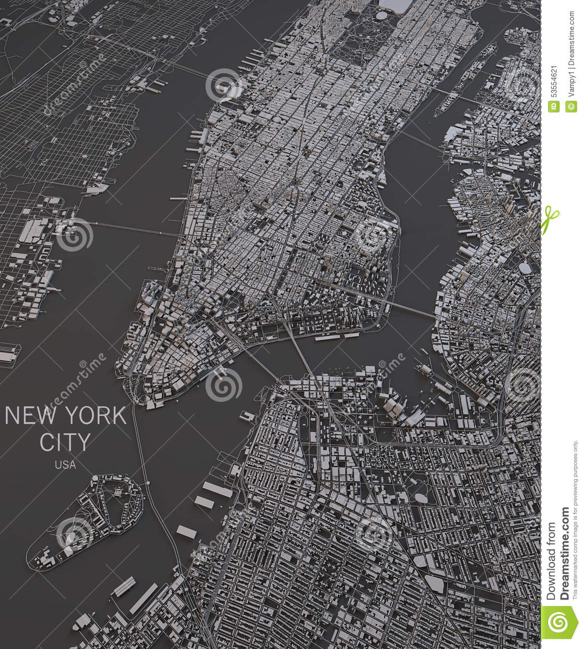 Royalty Free Ilration Download New York City Map