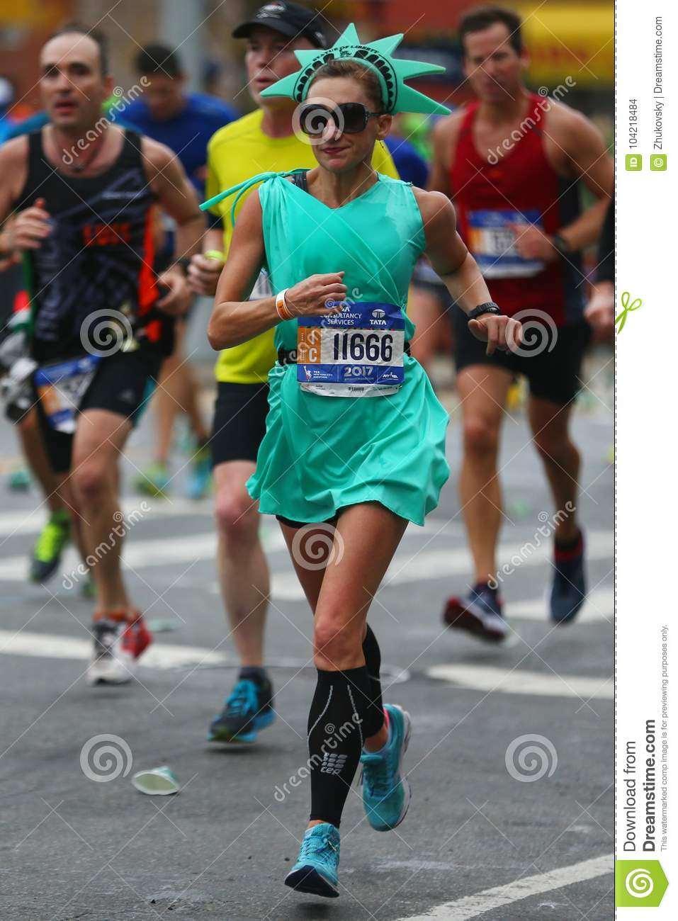 New York November 5 2017 New York City Marathon Runners Traverse 26 2 Miles Through All Five Nyc Boroughs To The Finish Line In Central Park Manhattan