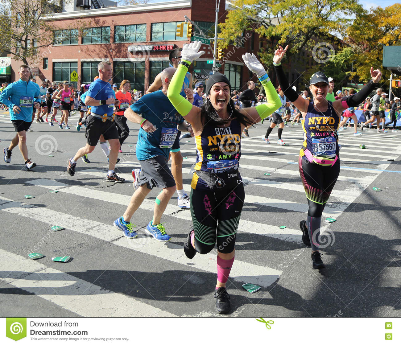 New York November 6 2016 New York City Marathon Runners Traverse 26 2 Miles Through All Five Nyc Boroughs To The Finish Line In Central Park Manhattan