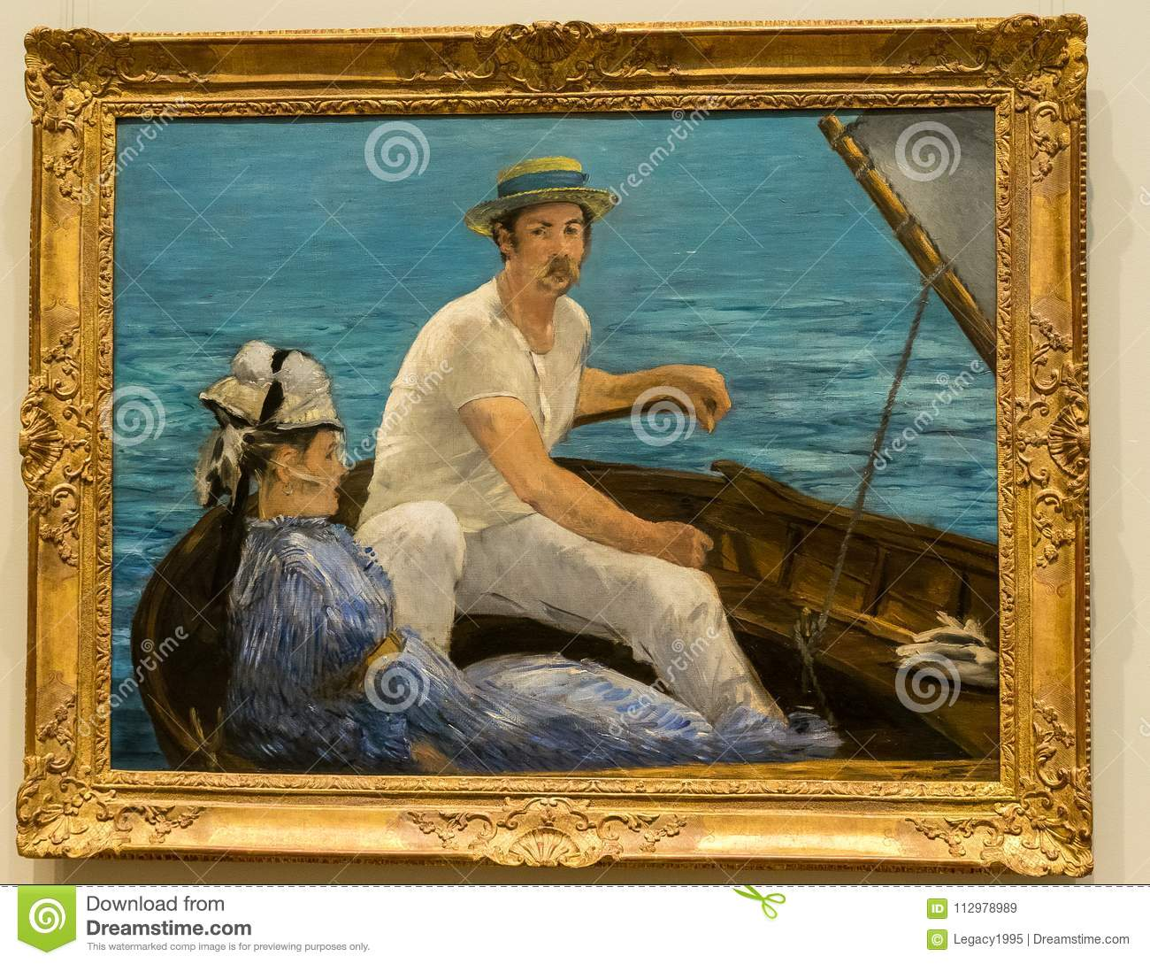 New York City The Met - Edouard Manet - Boating