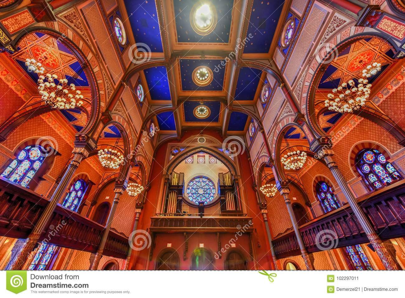 Central Synagogue - New York City Editorial Photo - Image of