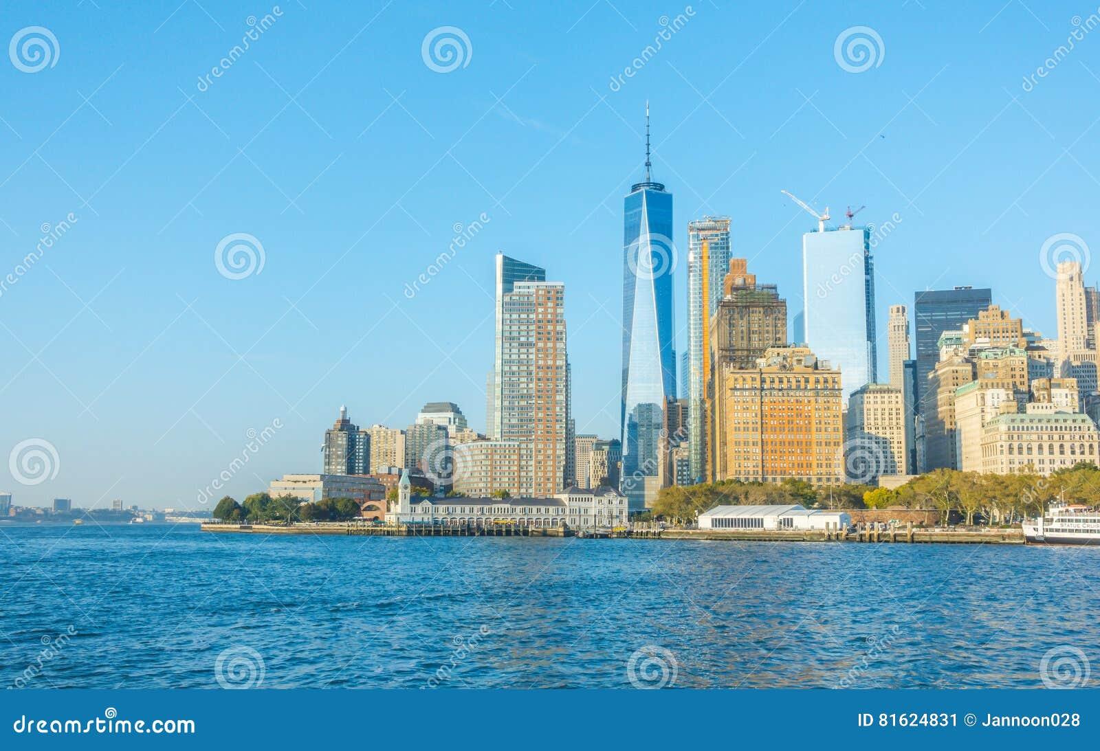 New York City - October 18, 2016: Manhattan skyline, New York Ci