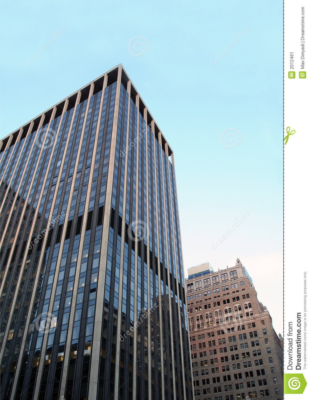 New York City Office Building Stock Image Image Of Pattern