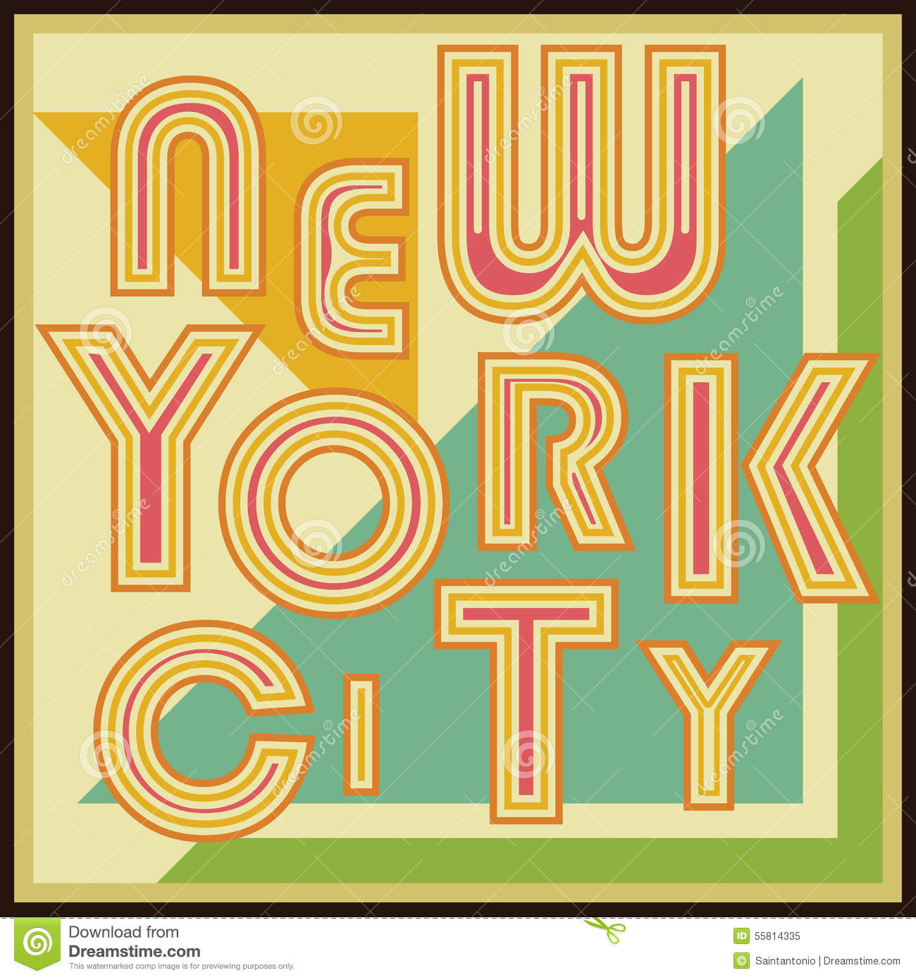 Poster design new york - New York City Retro Vintage Typography Poster T Shirt Printing Design Vector Badge