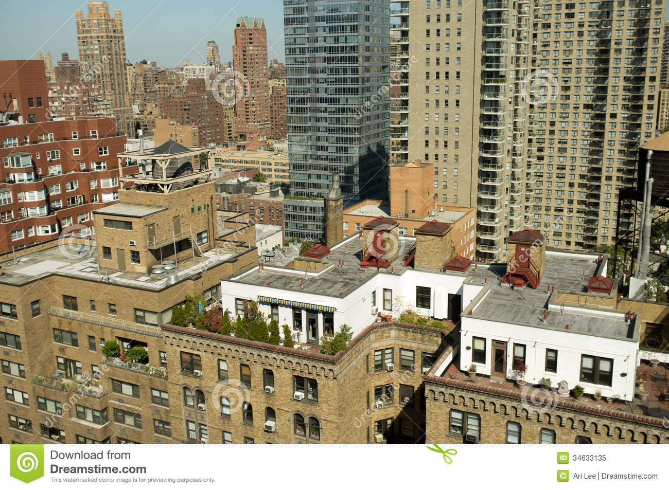 New York City Rooftop Penthouse Stock Image Image 34633135