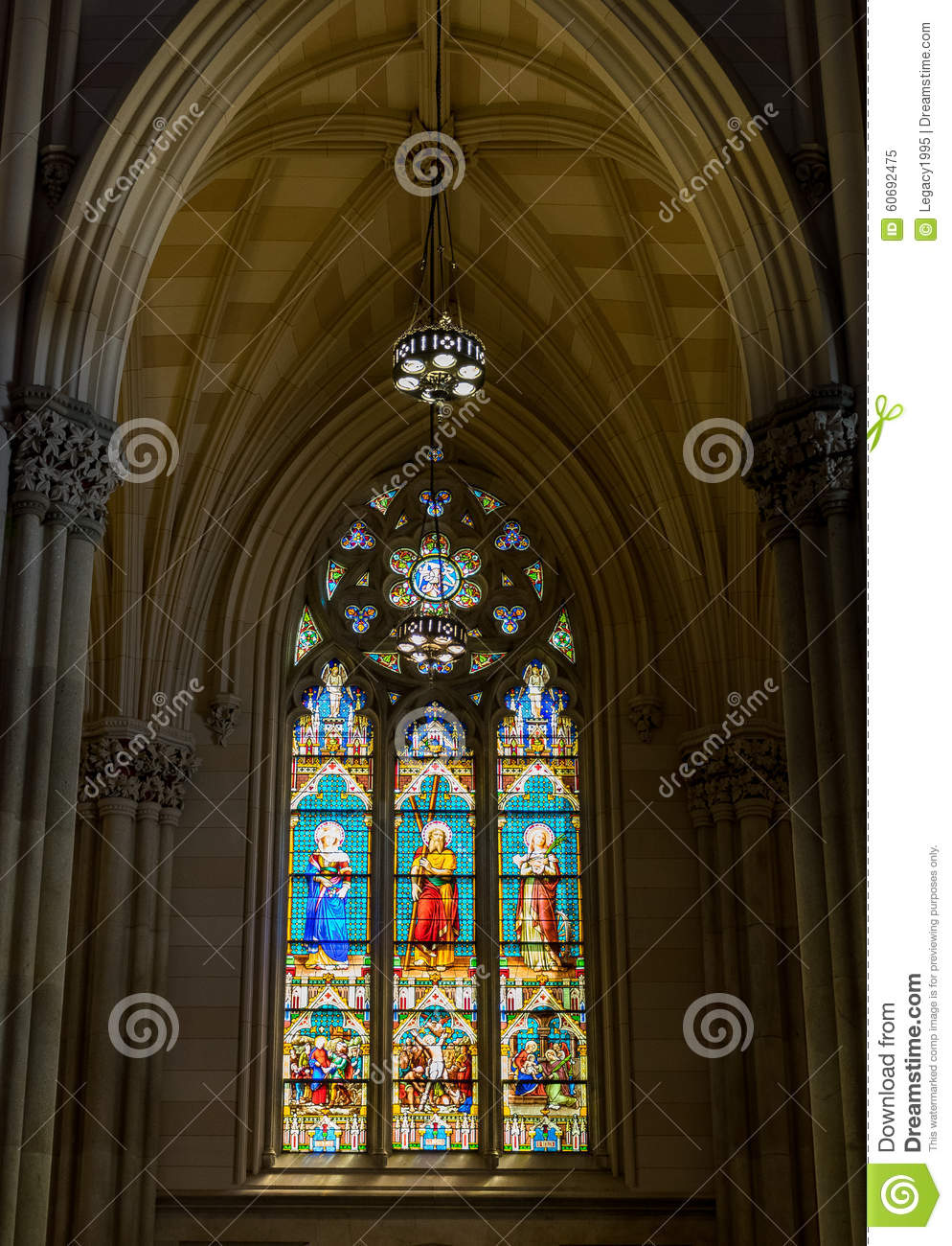 New York City Saint Patricks Cathedral Gothic Interior Windows