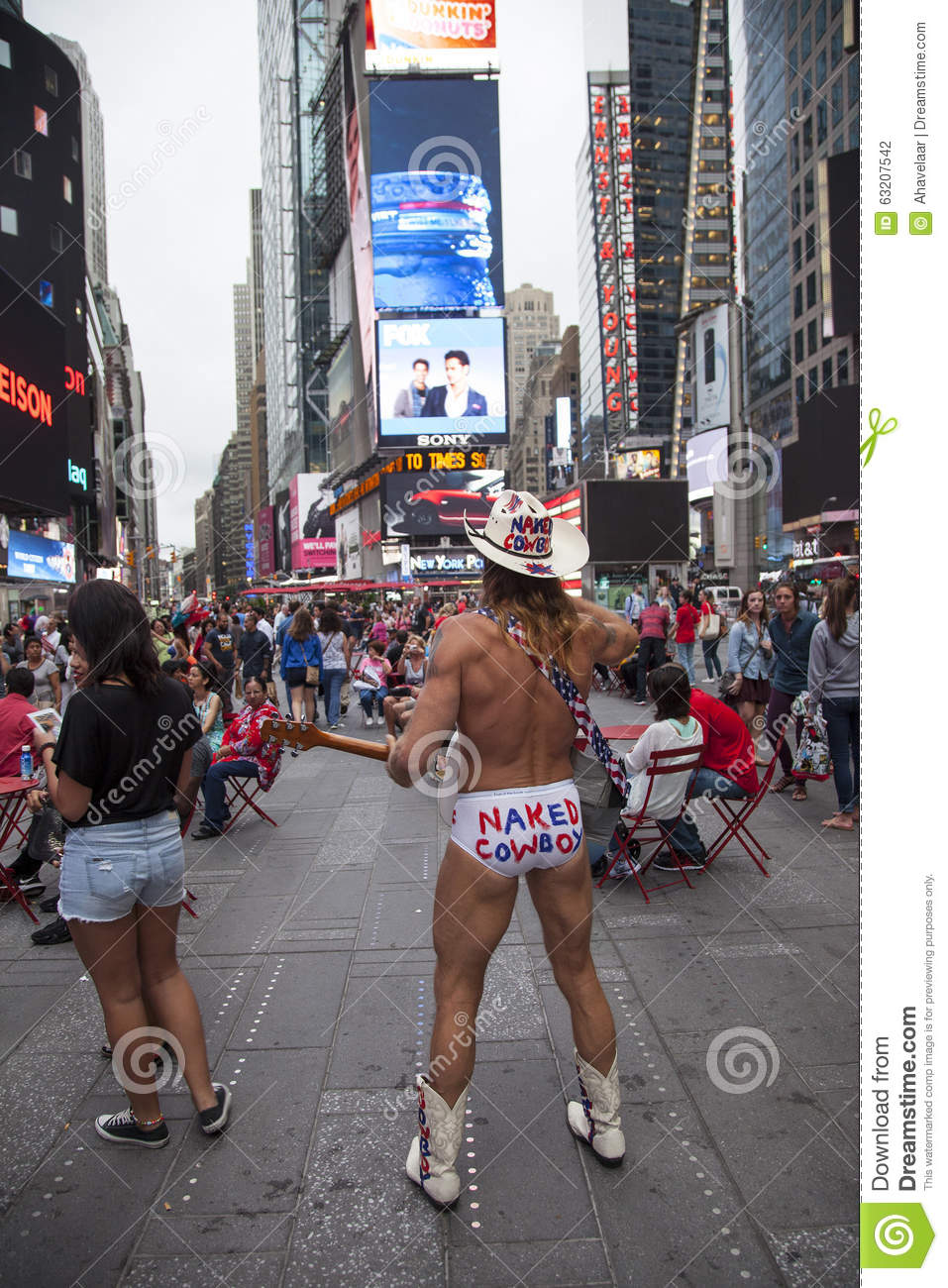 Naked Cowboy, Dollar Business 10_13 Editorial Photography