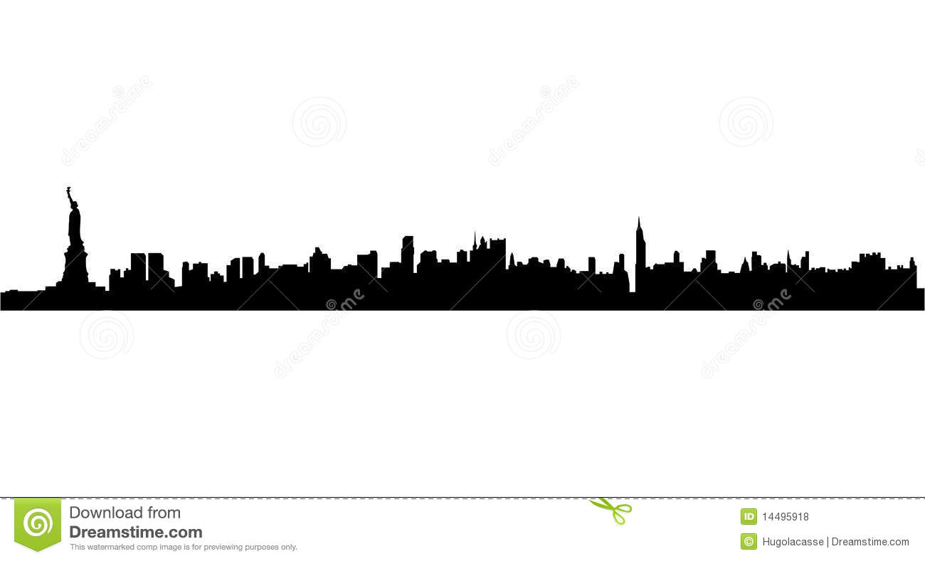 new york city skyline stock vector illustration of metropolis