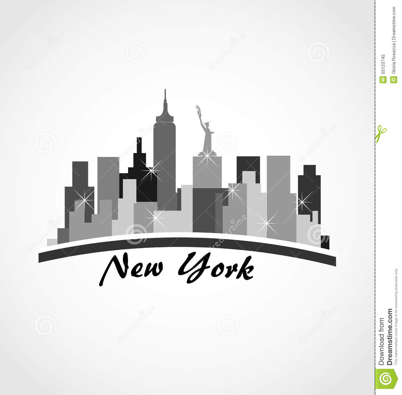 New York City Logo Royalty Free Stock Image - Image: 21972066