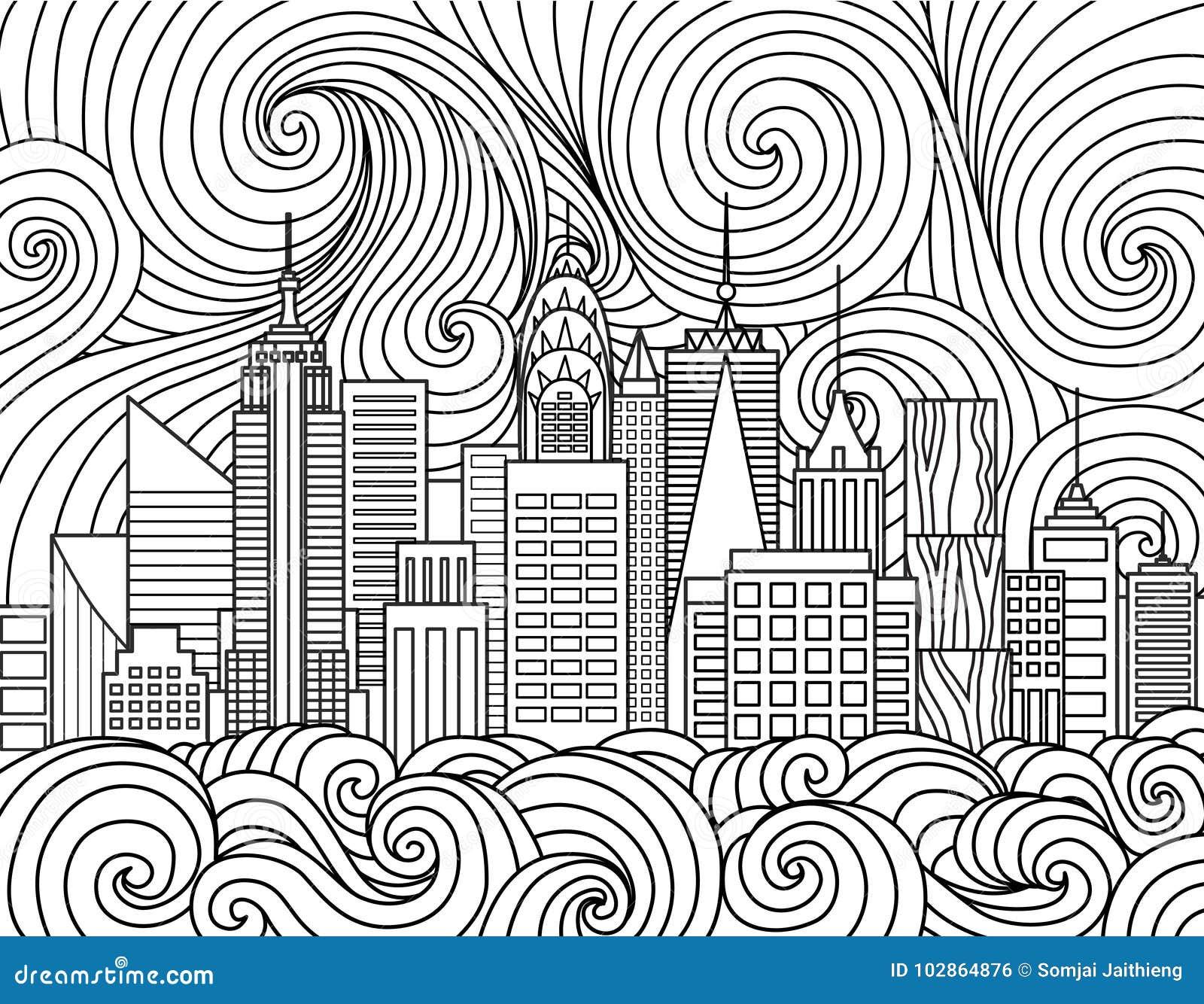 New York City Skyline Stock Vector Illustration Of Anti