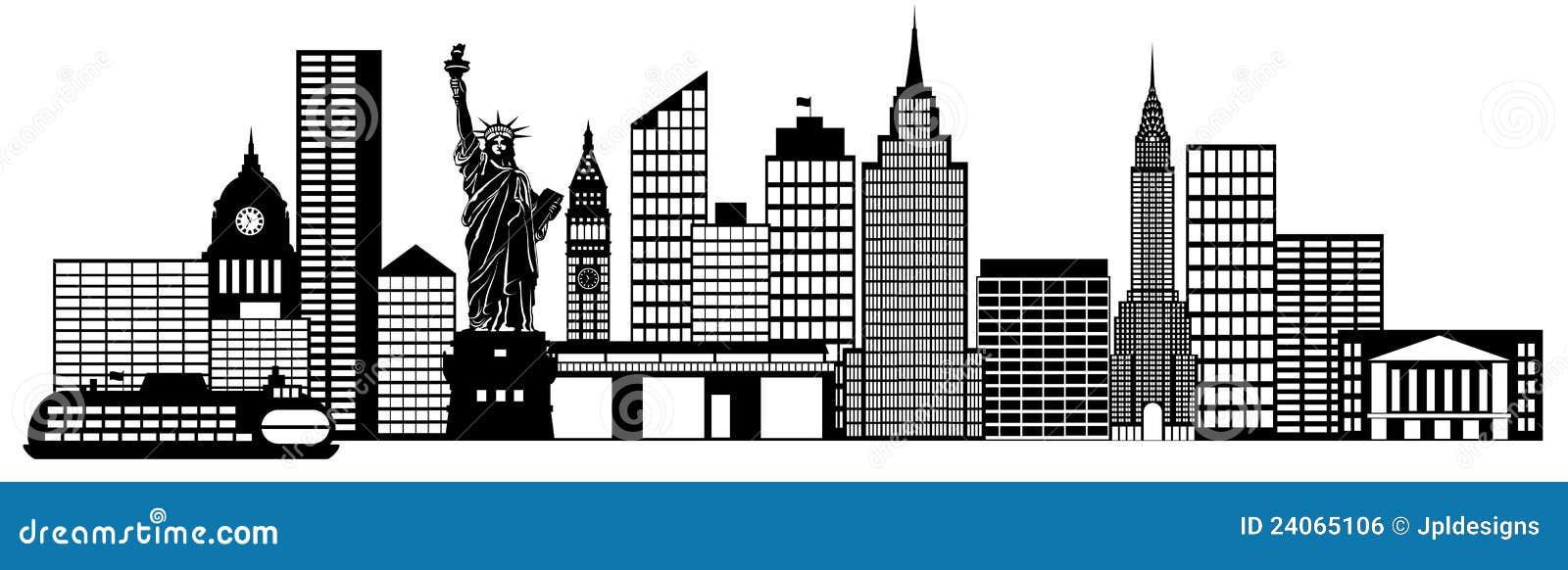 Clip Art New York City Clipart new york city skyline panorama clip art royalty free stock image art