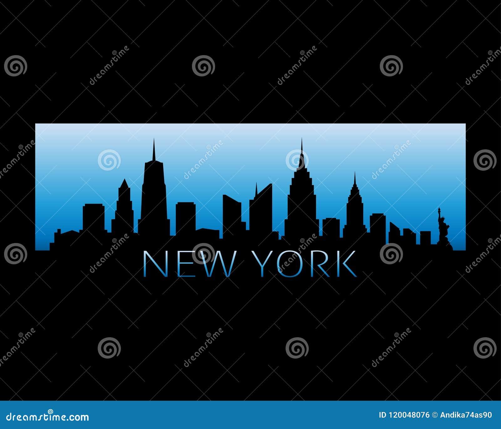 New York City Skyline Vector Illustration Stock Vector