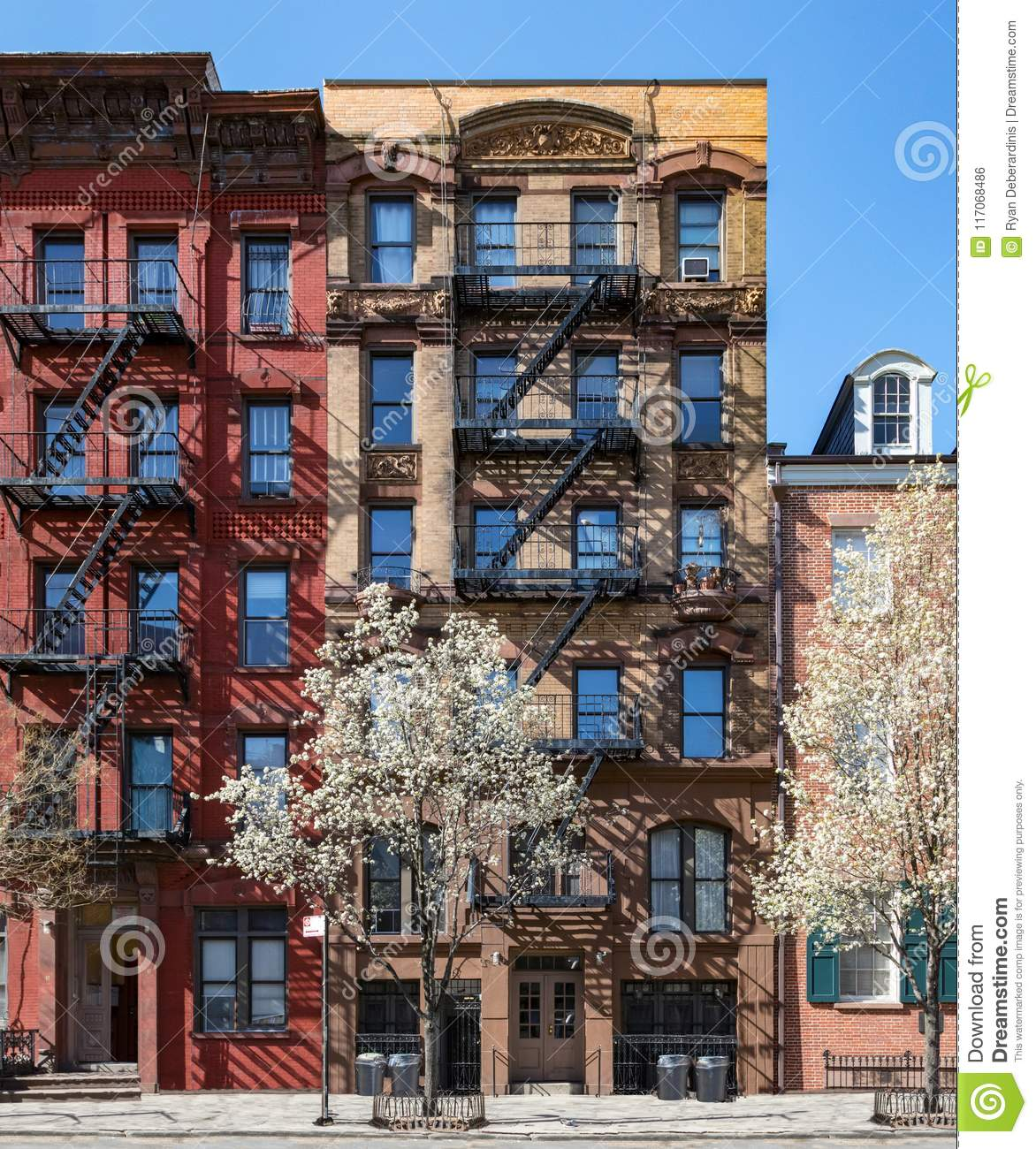 New York City in Spring - Historic buildings in the East Village
