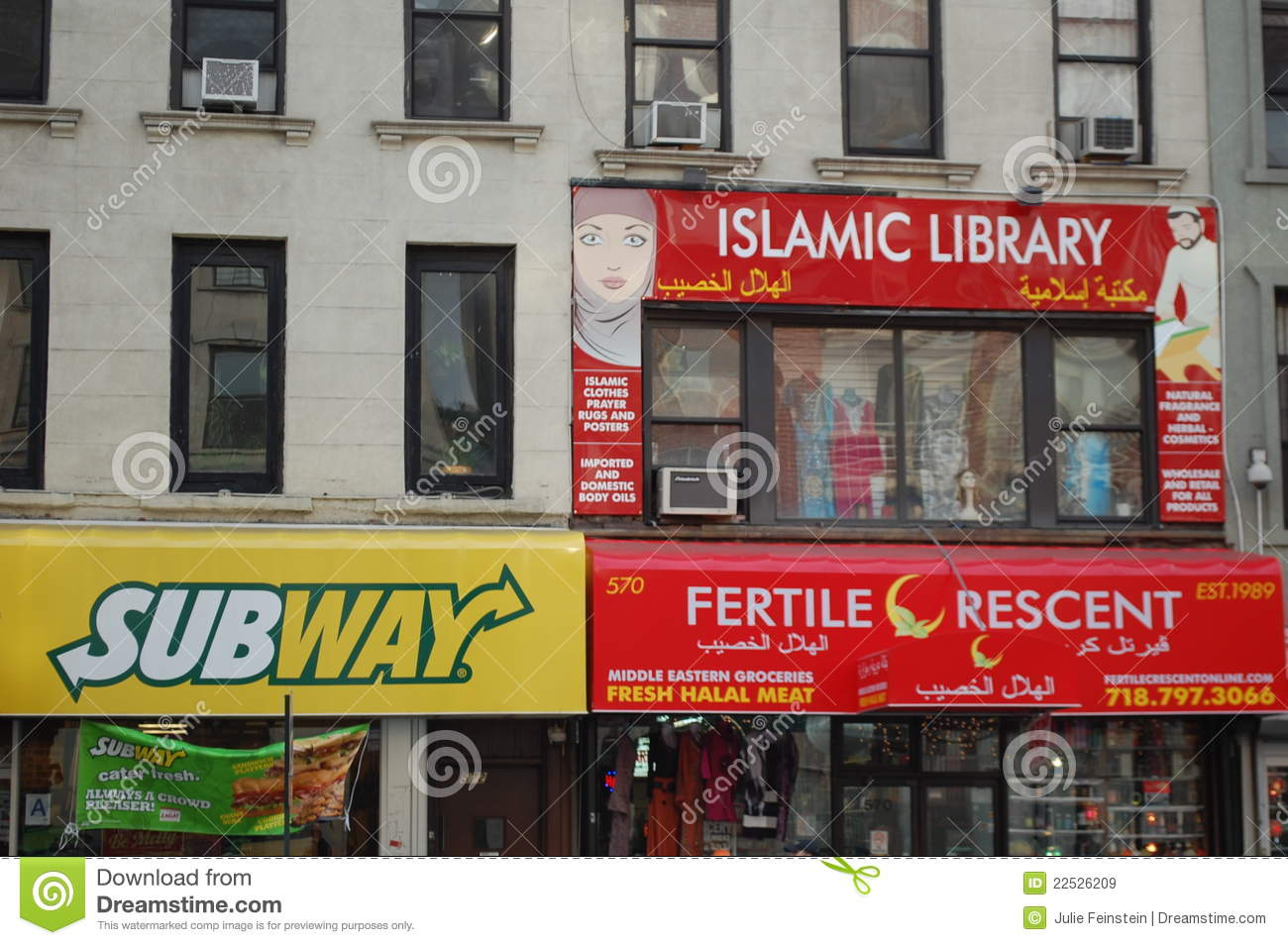 New York City Store Fronts Editorial Stock Image Image Of