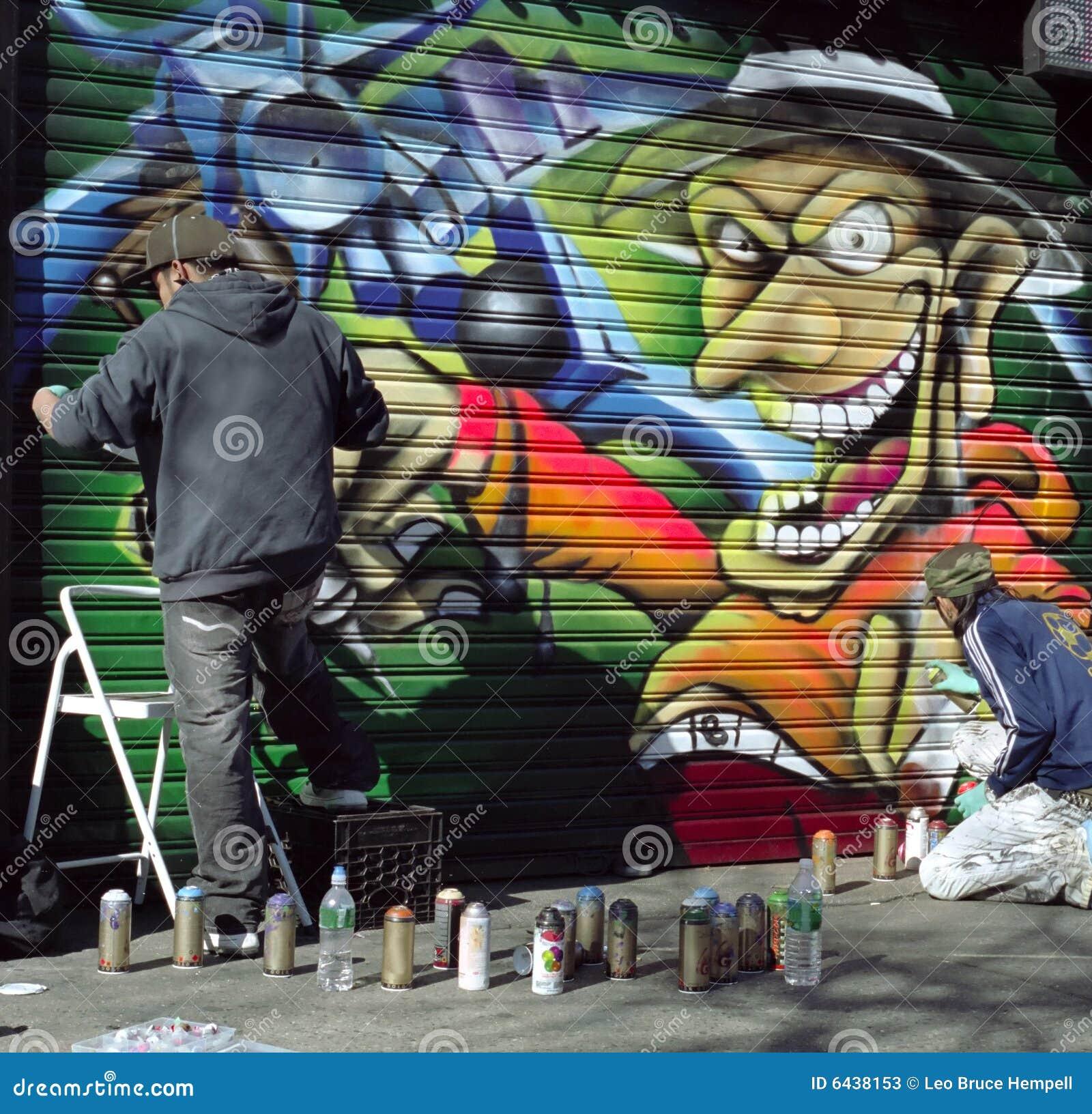 street spray artist new york city usa stock photos image. Black Bedroom Furniture Sets. Home Design Ideas