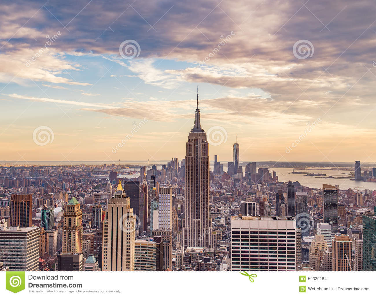 New york city at sunset stock photo image 59320164 for New york city beautiful