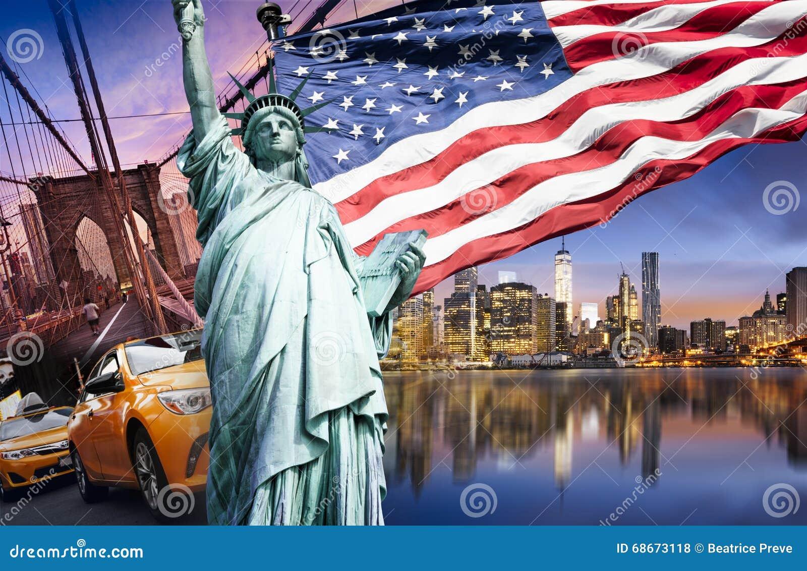 New York City Symbols Stock Photo Image Of Cloud Midtown 68673118
