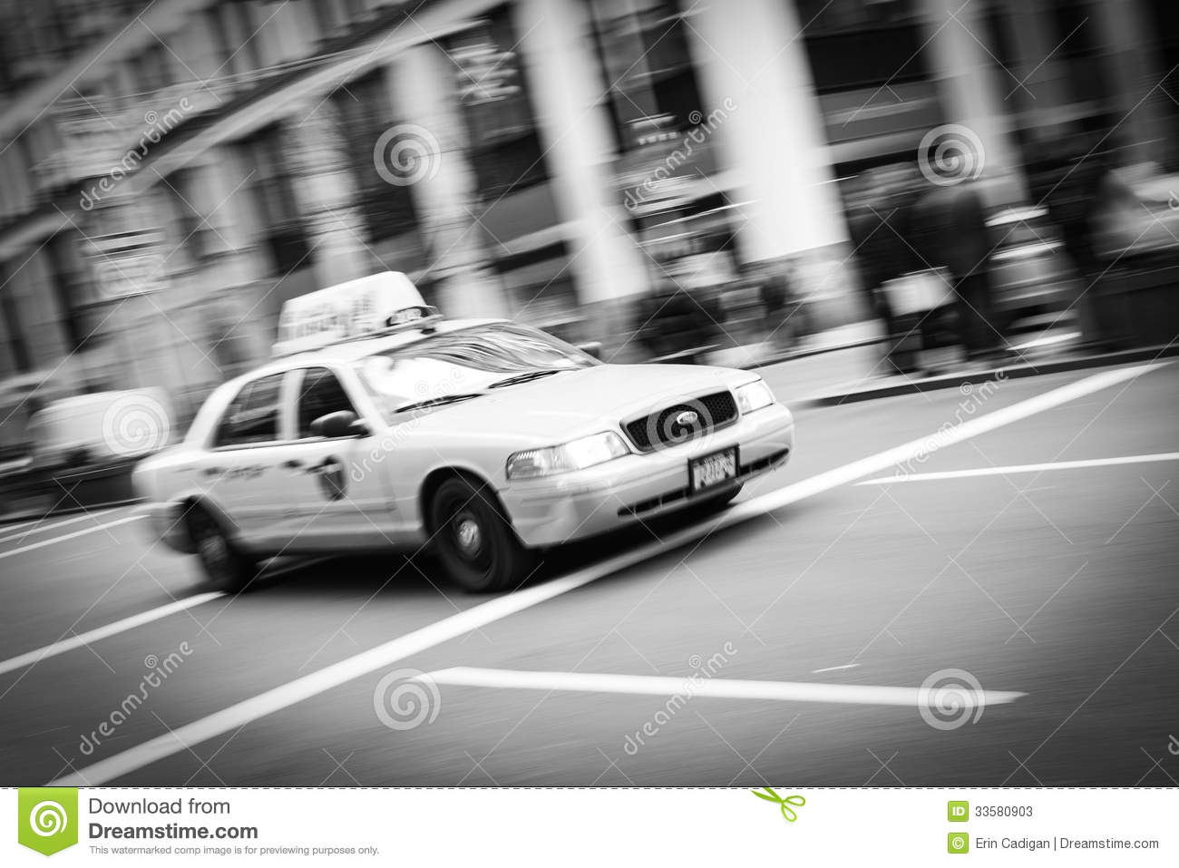 new york city taxi blur black and white editorial stock. Black Bedroom Furniture Sets. Home Design Ideas