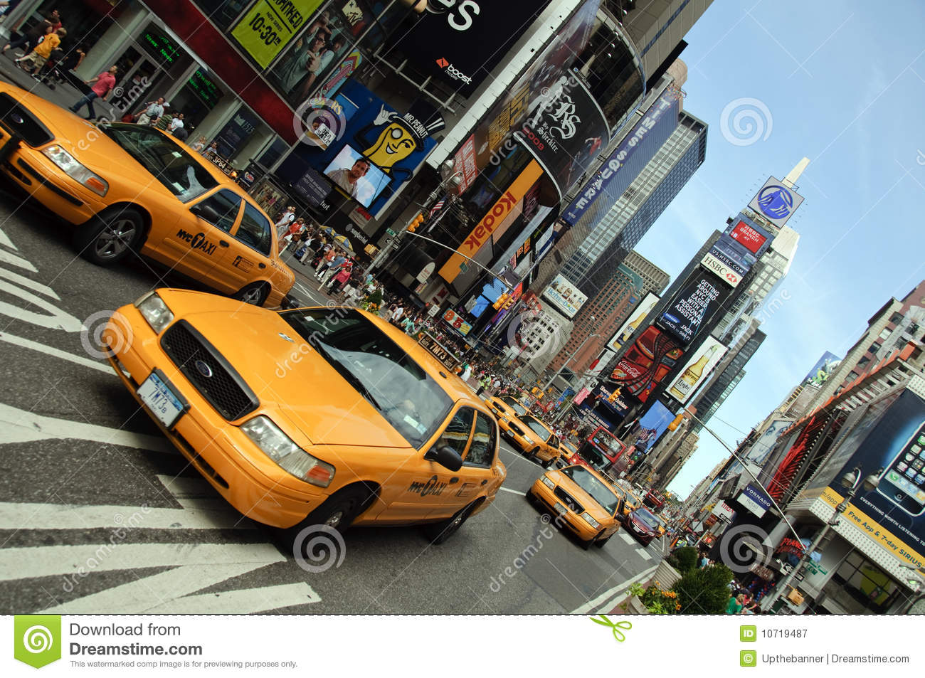 New York City Taxi, Times Square Editorial Photography