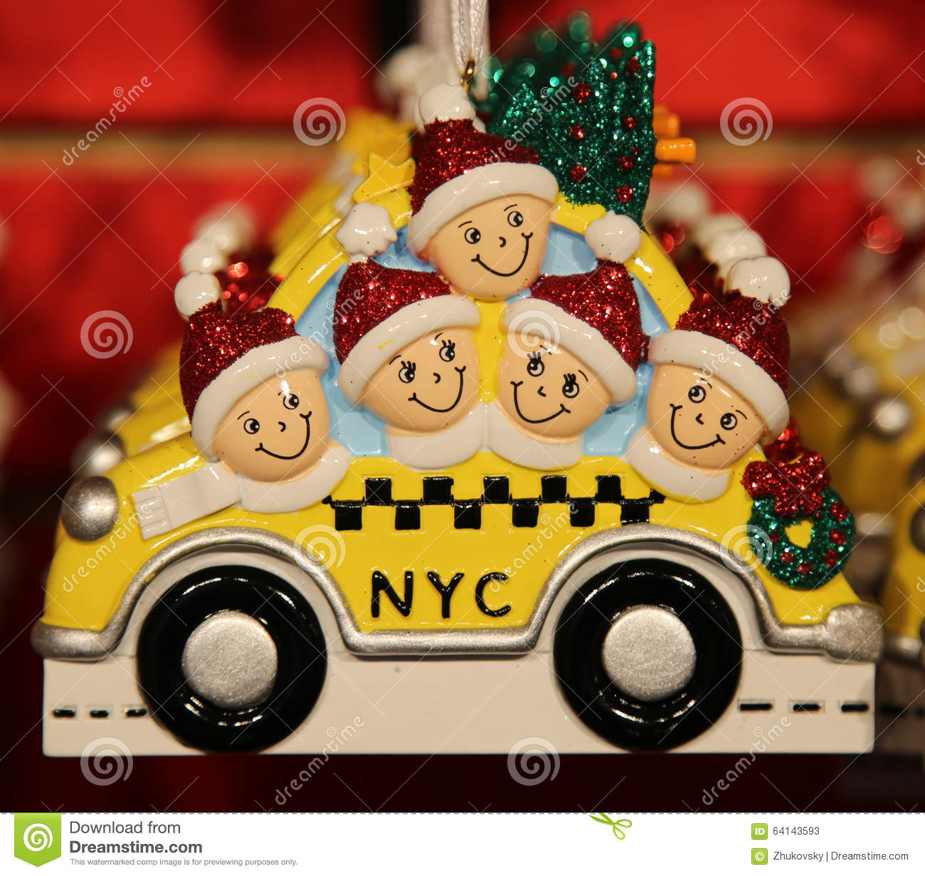 Themed christmas ornaments - New York City Themed Christmas Ornaments