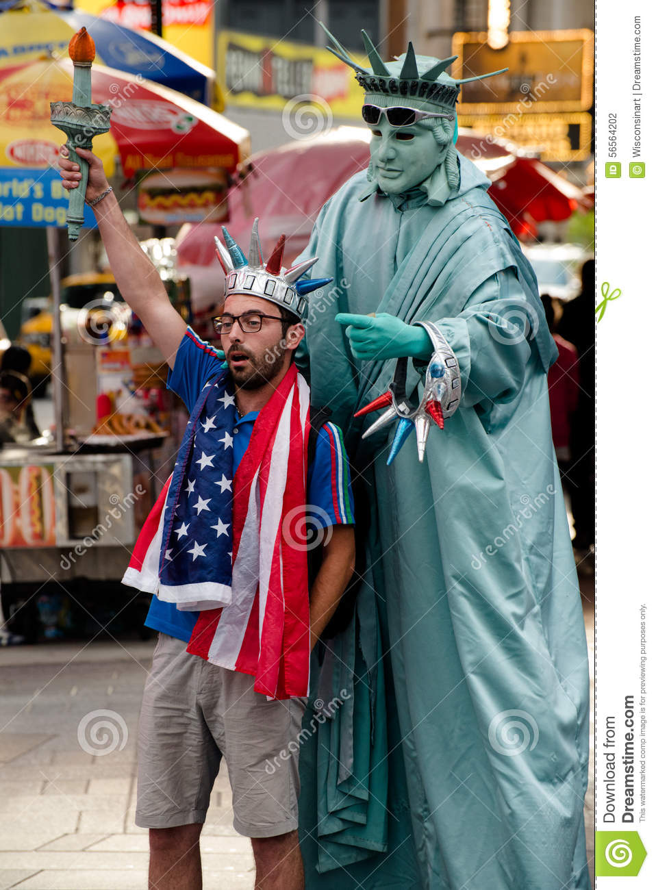 New York City Times Square Tourist Editorial Photography - Image: 56564202