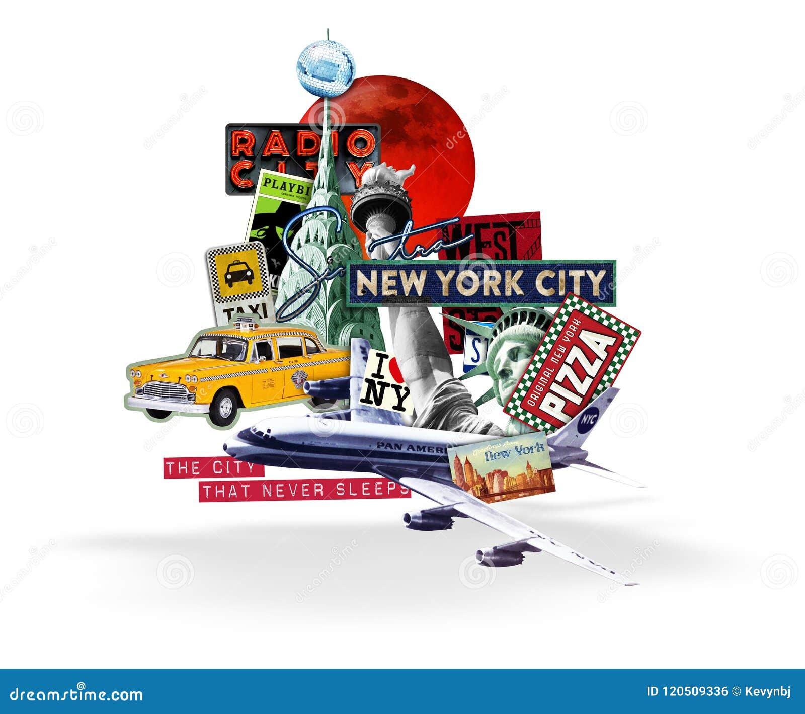New York City Travel Collage White Background Editorial ... | 1300 x 1170 jpeg 119kB