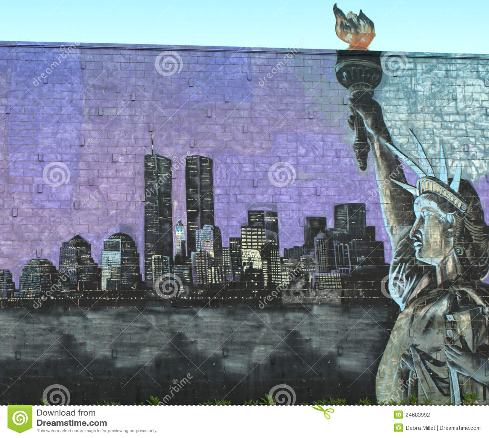 Foto Murales New York.New York City Tribute Mural Editorial Photography Image Of