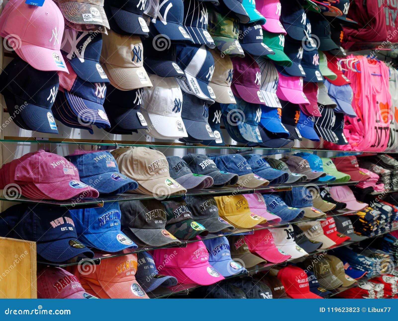 9e1f51fb4 New York Merchandising Caps Souvenirs Shop Editorial Stock Photo ...