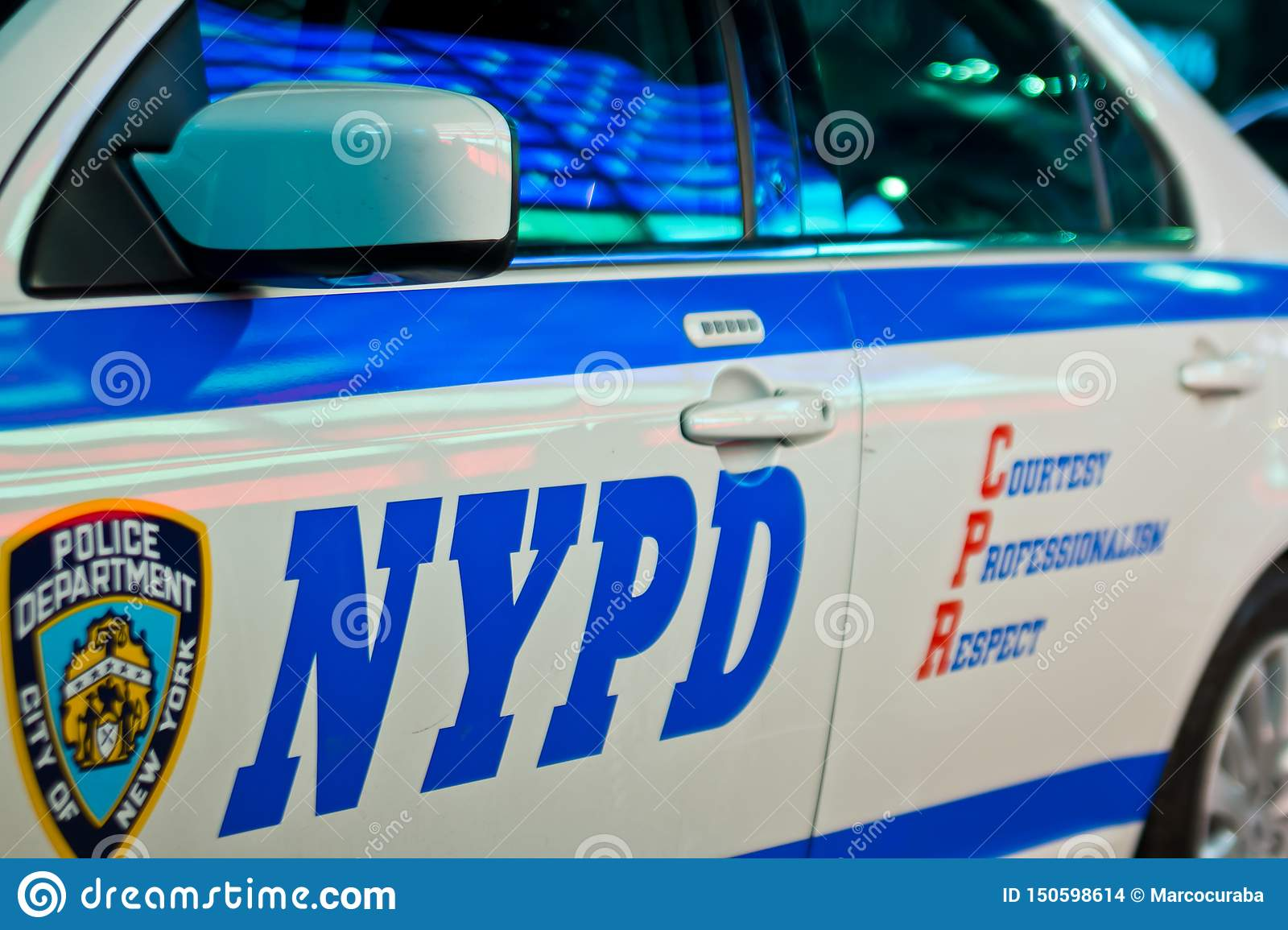 New York City USA, Augusti 2012: Polisbil av NYPD