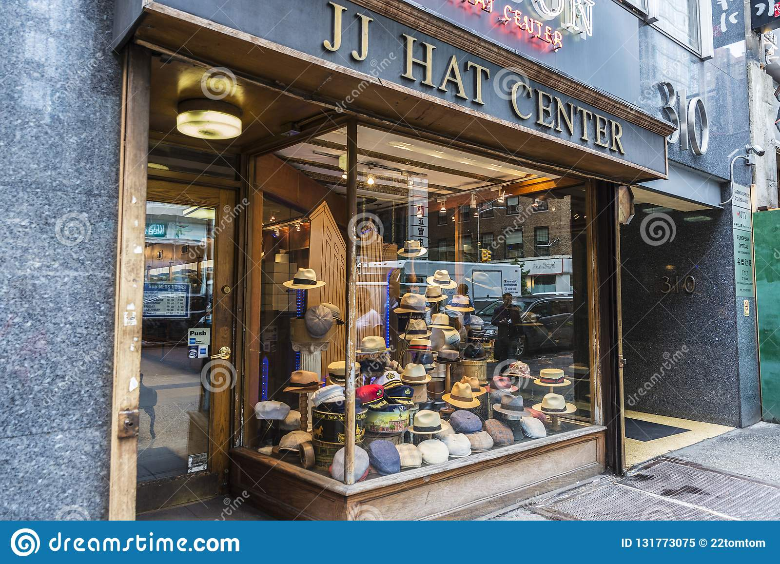 d25693c4edfe7 Millinery store called JJ Hat Center in 5th Avenue Fifth Avenue in  Manhattan in New York