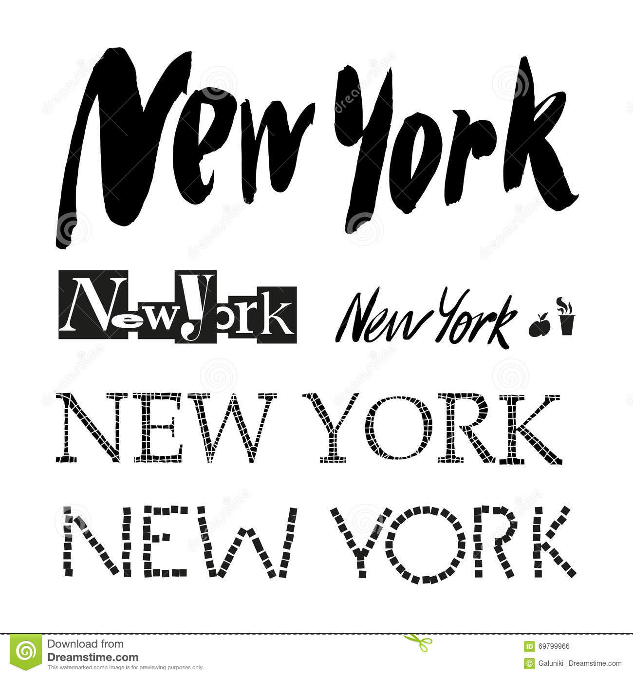 New York City Vector Lettering Stock Vector Image 69799966