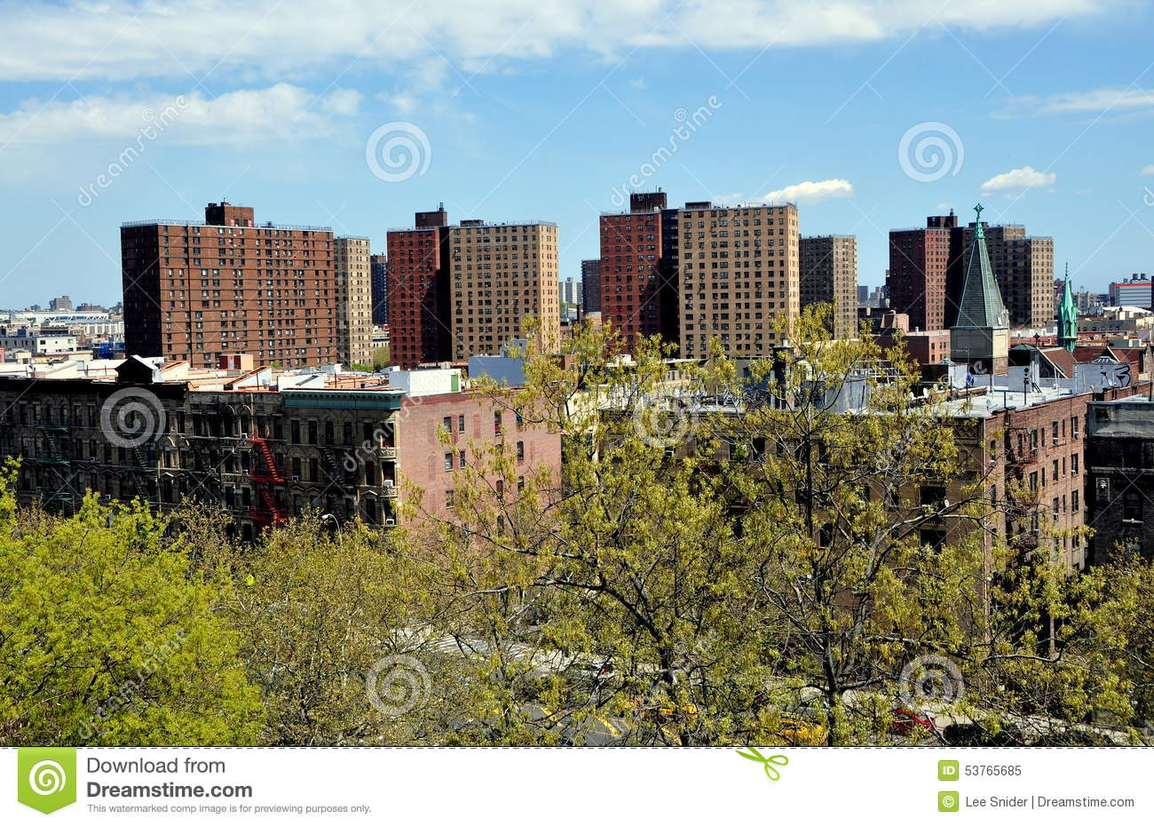 new york city view of harlem editorial image image